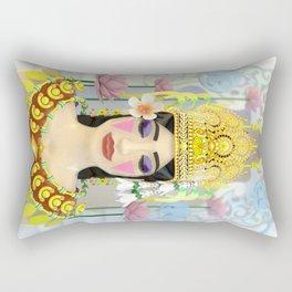 The Meditating Apsara Rectangular Pillow
