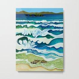 Hahei Beach at High Tide Metal Print