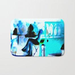 Ghostly Nightclub Bath Mat