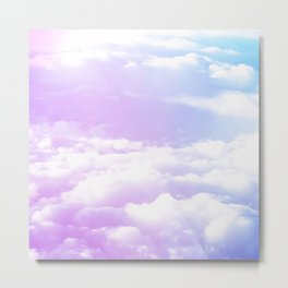 Candy Cotton Clouds Metal Print