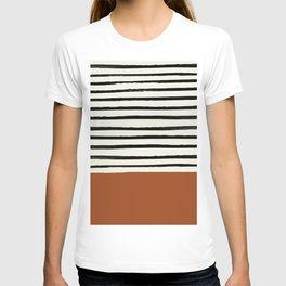 Burnt Orange x Stripes T-shirt
