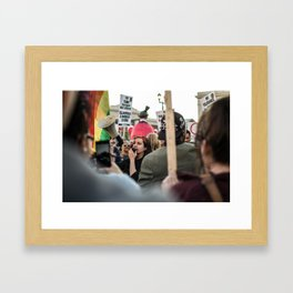 Trump Campaign Protests Framed Art Print