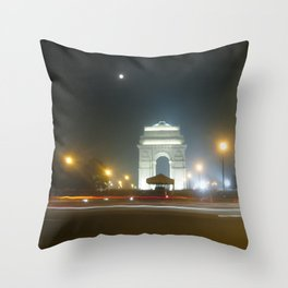Rush Hour - India Gate Throw Pillow