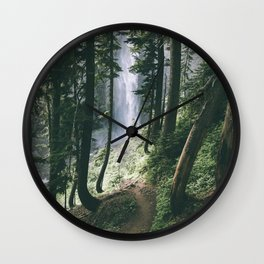 To The Falls Wall Clock