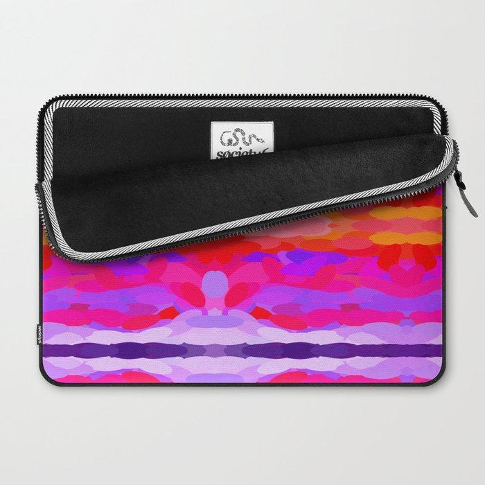 Purple, pink and orange tie dye Laptop Sleeve