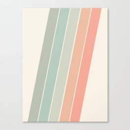 Trippin' - retro 70s socal minimal striped abstract art california surfing vintage Canvas Print