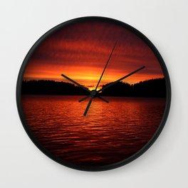 Sunset in Scandinavia #decor #society6 Wall Clock