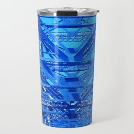 Cobalt Blue Metal Bridge Travel Mug