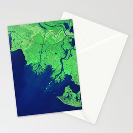 260. Growing Deltas in Atchafalaya Bay Stationery Cards