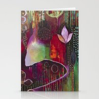 """flora bowley Stationery Cards featuring """"Surrender"""" Original Painting by Flora Bowley by Flora Bowley"""