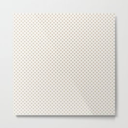 Frosted Almond Polka Dots Metal Print