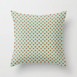 Polka Dot Frenzy Throw Pillow