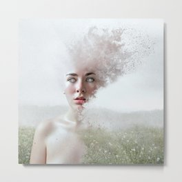Lady of the Field Metal Print
