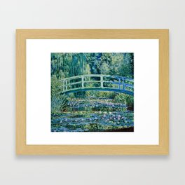 Claude Monet - Water Lilies And Japanese Bridge Framed Art Print