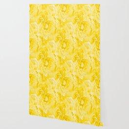 Yellow Peony Petals in Close-up #decor #society6 #buyart Wallpaper