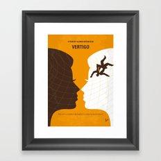 No510 My Vertigo minimal movie poster Framed Art Print