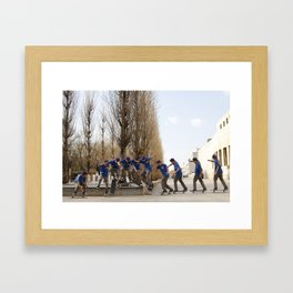Skateboarding Portugal Framed Art Print