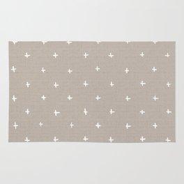 Pattern - crosses on beige/brown background Rug