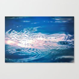 """Blue Ripples 2"" by Murray Bolesta Canvas Print"