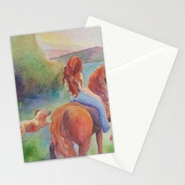 Evening Ride Girl And Horse Stationery Cards