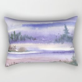 Wintery Taiga Rectangular Pillow