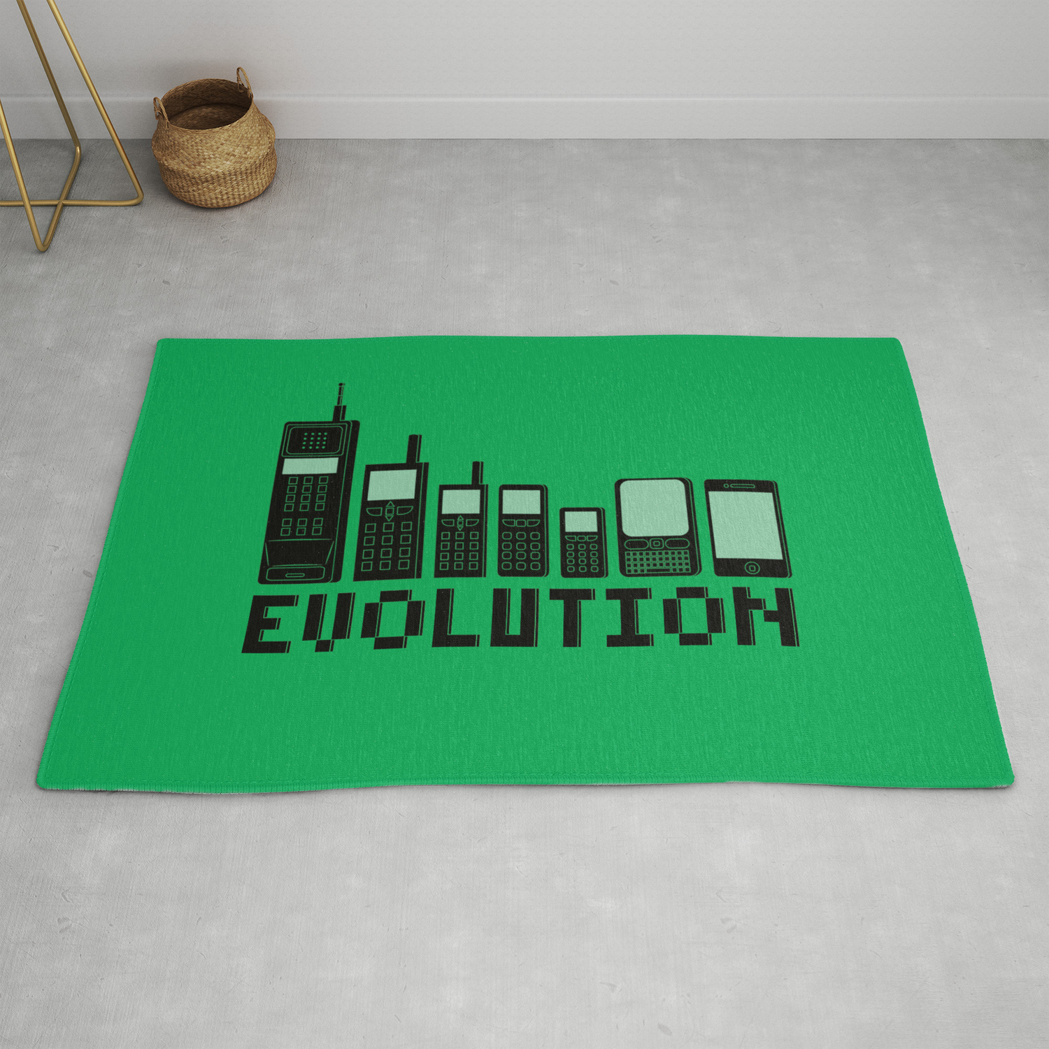 Cell Phone Evolution Rug by wersns