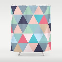 Geo Pastels Shower Curtain