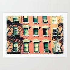 Orange Houses, New York Art Print