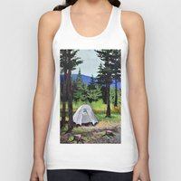 camp Tank Tops featuring Camp by Kira Yustak