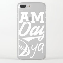 Football graphic, It's Game Day Yall, Fall Football Tee Clear iPhone Case