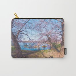Dreamer's Vision - Sakura blooming along the lake Carry-All Pouch