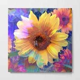 Summer's Sweetest Sunflowers Metal Print