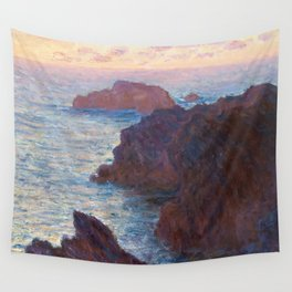 1886-Claude Monet-Rocks at Belle-lle, Port-Domois-65 x 81 Wall Tapestry