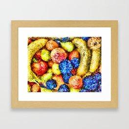 crystallized fruits Framed Art Print