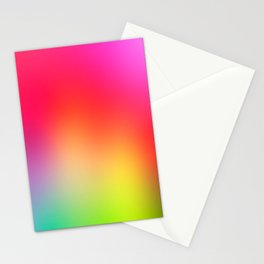 Fluorescent Neon Colors Stationery Cards
