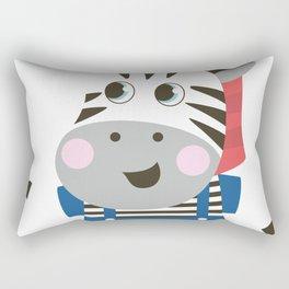 cute cartoon Zebra for kids Rectangular Pillow
