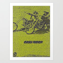 Text Portrait of Easy Rider with full script of the movie Art Print