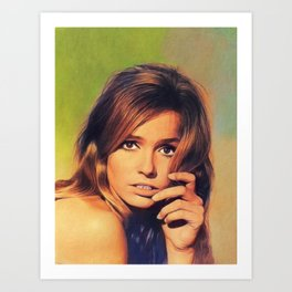 Eva Renzi, Vintage Actress Art Print