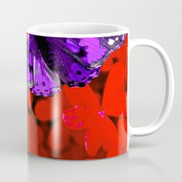 Butterflies are Free to Fly Red Coffee Mug
