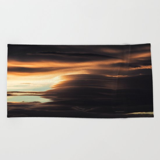 Clouds Over Iceland Beach Towel