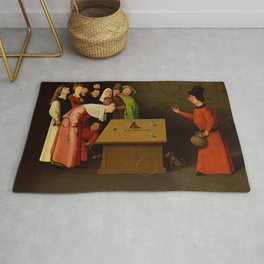 "Hieronymus Bosch ""The Conjurer - The Magician"" Rug"