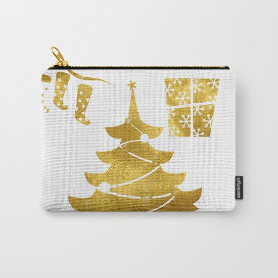 Gold Christmas 03 Carry-All Pouch