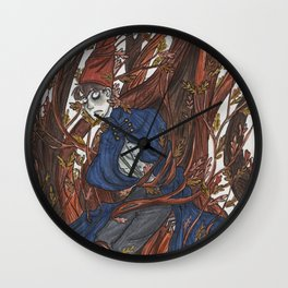 Wirt in the Edelwoods Wall Clock