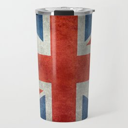 "English Flag ""Union Jack"" bright retro 3:5 Scale Travel Mug"