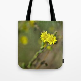 Golden flowers by the lake 3 Tote Bag