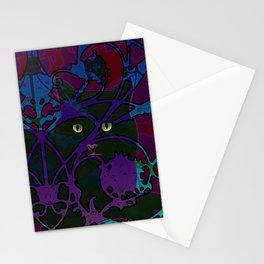 Art Nouveau Visible Cat Stationery Cards