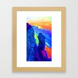 Southerndown body rock rainbow Framed Art Print