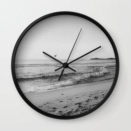 HALF MOON BAY VI (B+W) Wall Clock