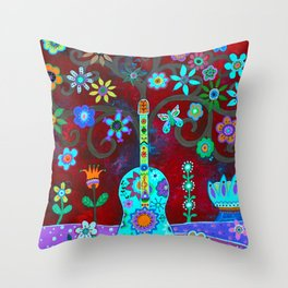 FESTIVE TREE OF LIFE Throw Pillow