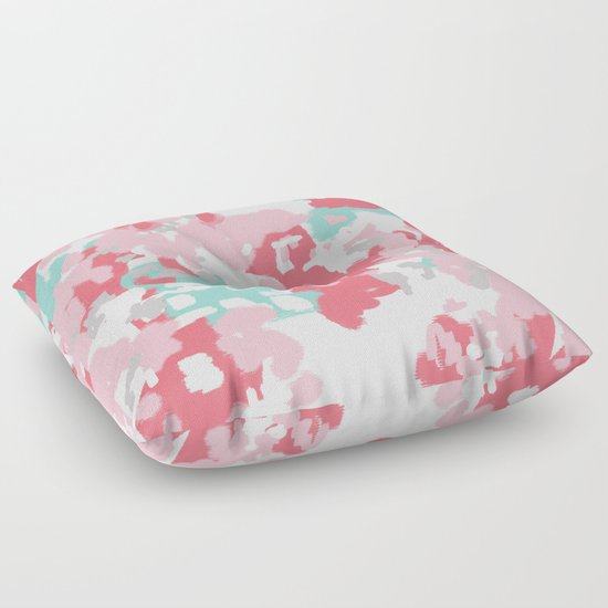 Floor Pillows Society6 : Arabella - abstract painting hipster home decor trendy color palette art gifts Floor Pillow by ...